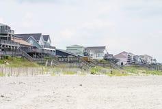 plażowi domy. Fotografia Royalty Free