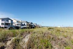 Plażowi domy Zdjęcia Royalty Free