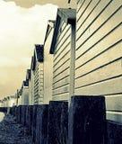 Plażowi domy, Anglia, Zjednoczone Królestwo Obrazy Royalty Free