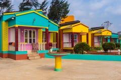 Plażowi domy przy Mandarmoni Zdjęcie Royalty Free