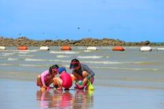 plażowi dzieciaki Obrazy Royalty Free