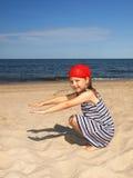 plażowi dziewczyn potomstwa zdjęcie royalty free
