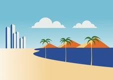 plażowi hotele Zdjęcia Stock