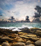 plażowi karon kamienie obraz stock