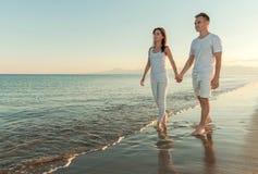 Plażowi kochankowie Fotografia Stock