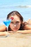 plażowi koktajlu kobiety potomstwa Zdjęcie Stock