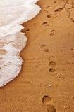 plażowi kroki Zdjęcia Stock