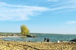 plażowi ludzie dwa Fotografia Royalty Free