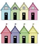 Plażowi magazynów domy ilustracji
