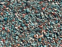 plażowi mokre kamienie Obraz Stock