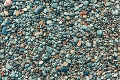 plażowi mokre kamienie Zdjęcie Stock