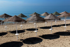 plażowi parasole Zdjęcie Stock