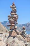 plażowi piramid kamienie Obrazy Stock