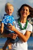 plażowi ranki rodzinnych young Zdjęcia Stock