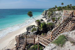 plażowi schodów piaskowaci Zdjęcia Royalty Free