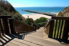 plażowi schody. zdjęcie royalty free