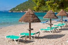 Plażowi sunbeds Fotografia Stock