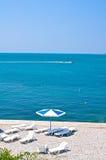 plażowi sunbeds zdjęcia stock
