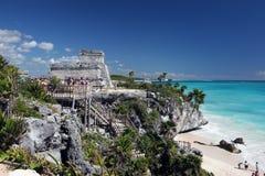 plażowi turystów Fotografia Stock