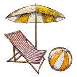 Plażowi wakacje letni Zdjęcia Royalty Free