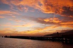 plażowy Almeria zmierzch Spain Zdjęcia Royalty Free