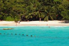 Plażowy Anse Lazio, Praslin, Seychelles Fotografia Royalty Free