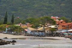 Plażowy armacao armação, Florianopolis, Brazylia Zdjęcie Stock