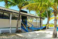 Plażowy bar - Dziewicze wyspy Fotografia Royalty Free