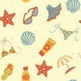 Plażowy Bezszwowy wzór Zdjęcie Royalty Free