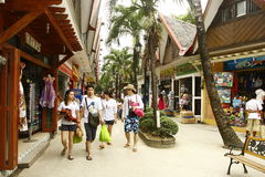 plażowy Boracay centrum handlowy d centrum handlowe Obrazy Stock