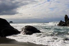 plażowy brzegowy Pacific Obraz Royalty Free