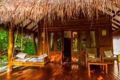 Plażowy bungalow - Maldives Obrazy Stock