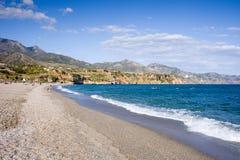 plażowy Burriana Nerja obraz royalty free