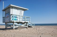 plażowy ca Monica Santa Obrazy Royalty Free