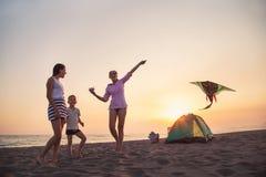 Plażowy camping Zdjęcie Stock