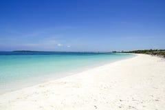 plażowy cayo Cuba Maria Santa Zdjęcie Stock