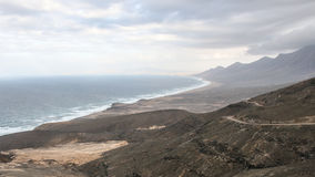 plażowy cofete Fuerteventura wyspy wysp surfboard Fotografia Royalty Free