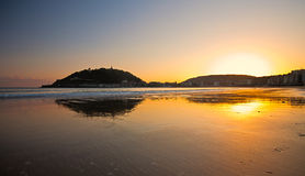 plażowy concha gipuzkoa los angeles San Sebastian Zdjęcia Stock