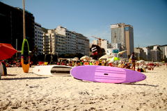 plażowy Copacabana De Janeiro Rio Obraz Stock