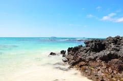 plażowy cruz Galapagos Santa Fotografia Royalty Free