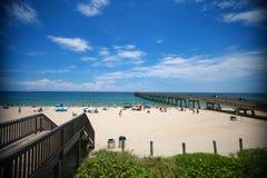 Plażowy Deerfield Molo Zdjęcie Royalty Free