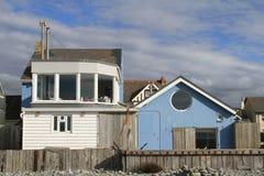 Plażowy dom w Borth, Walia Fotografia Royalty Free