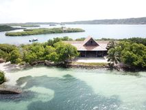Plażowy dom w Cartagena Colombia zdjęcie royalty free
