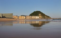 plażowy Donostia gipuzkoa zurriola Zdjęcia Stock