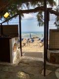 Plażowy drzwi zdjęcie royalty free