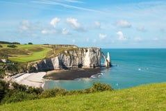 plażowy France Normandy skalisty Zdjęcie Stock