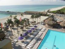 plażowy frontowy widok Zdjęcie Stock