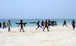 Plażowy futbol Fotografia Royalty Free