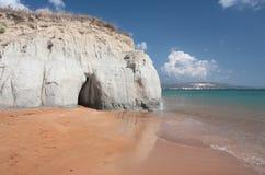 plażowy Greece wyspy kefalonia piaskowaty fotografia royalty free