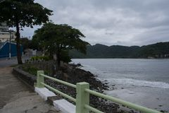 plażowy grodzki sao Vicente Brazil Obrazy Royalty Free